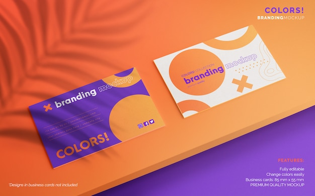 Editable business card mockup