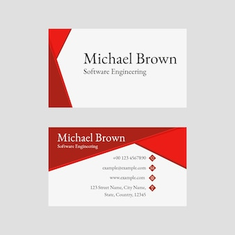 Редактируемый шаблон визитной карточки psd в абстрактном дизайне