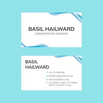 Редактируемый шаблон визитной карточки psd в абстрактном минималистичном дизайне