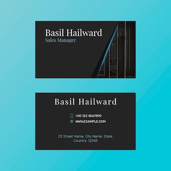 Редактируемый шаблон визитной карточки psd современный дизайн