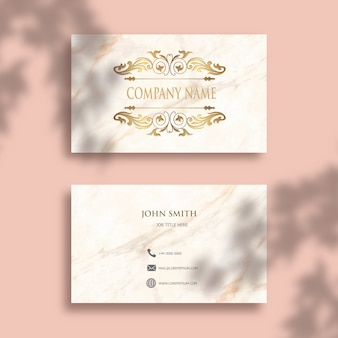 Editable business card with elegant gold design