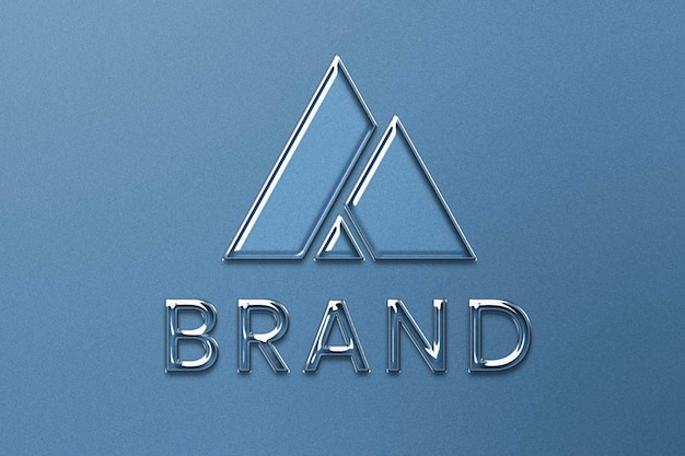 Editable business logo psd  in embossed style