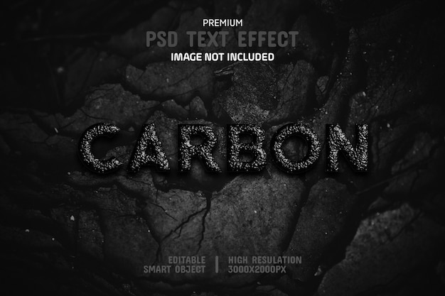 Editable carbon text effect template