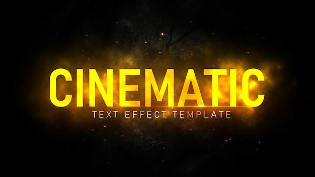 Редактируемый кинематографический текстовый эффект psd шаблон