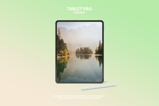 Редактируемый макет экрана планшета pro для цифрового устройства