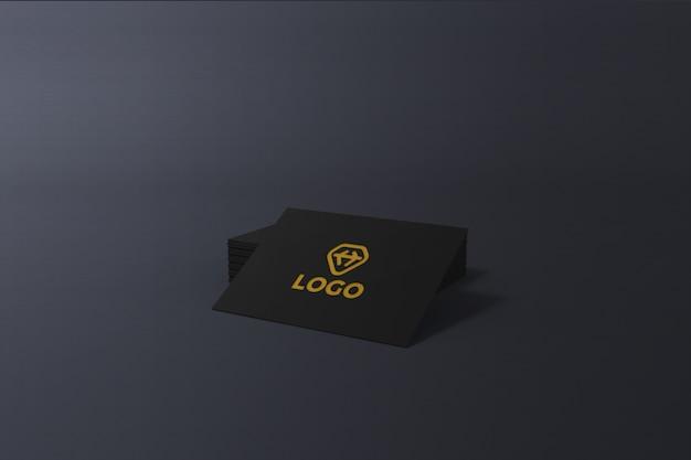 Редактируемый элегантный темный макет дизайна визитной карточки