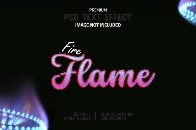 편집 가능한 화재 불꽃 텍스트 효과 템플릿