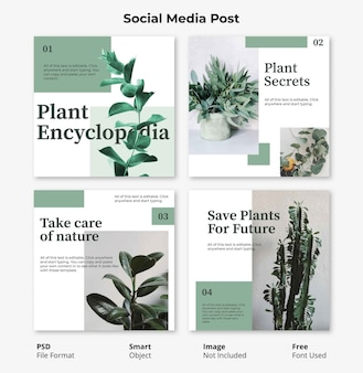 Editable floral square social post banner template