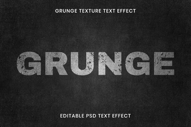 Editable grunge text effect psd template