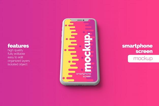 編集可能な高品質の最新の携帯電話デバイスディスプレイモックアップデザイン