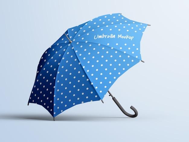 Editable opened umbrella mockup isolated