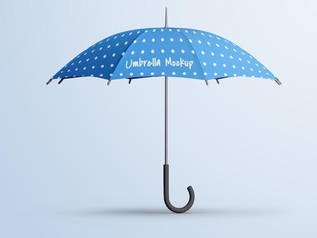 編集可能な開いた傘のモックアップが分離されました