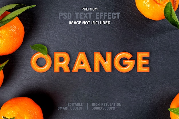 Editable orange text effect template