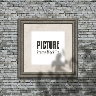 Editable picture frame mock up with blurred shadow overlay