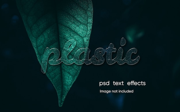 Editable plastic text effect