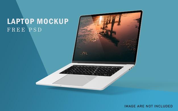 고해상도 무료 psd를 갖춘 편집 가능한 프리미엄 노트북 모형