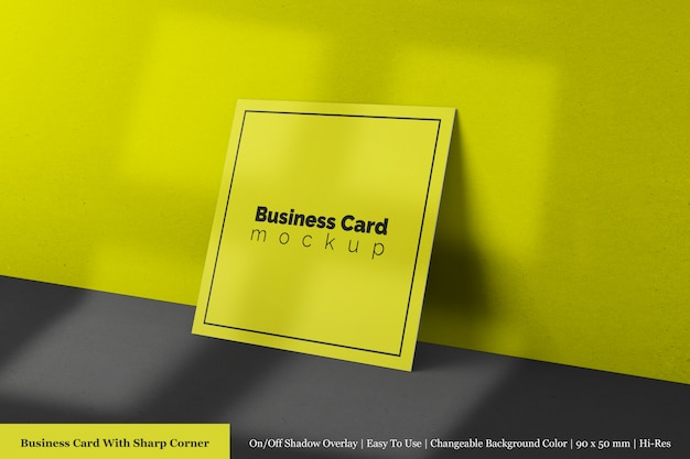 Editable premium square company business call card mock ups psd templates