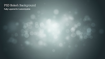 Editable PSD Bokeh Background
