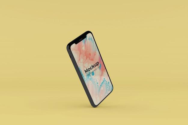 Editable realistic mobile mockup design templates