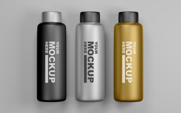 Редактируемые реалистичные макеты бутылок с водой