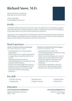 Modello di curriculum modificabile psd in un design pulito con foto