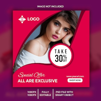 Editable sale banner for web and instagram