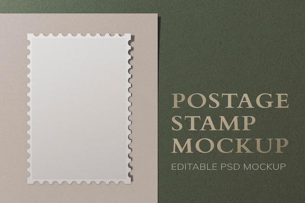Editable stamp mockup psd