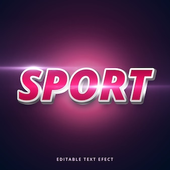 Editable stroke sport text effect