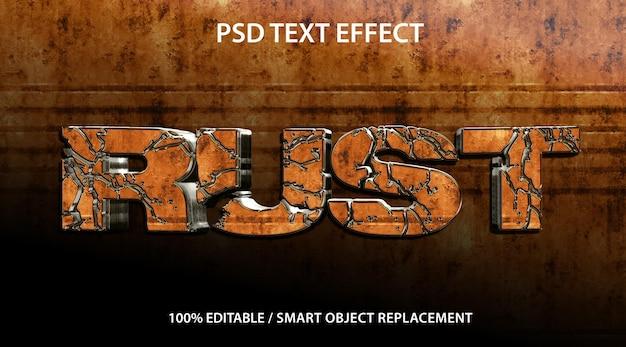 편집 가능한 텍스트 효과 3d rust premium
