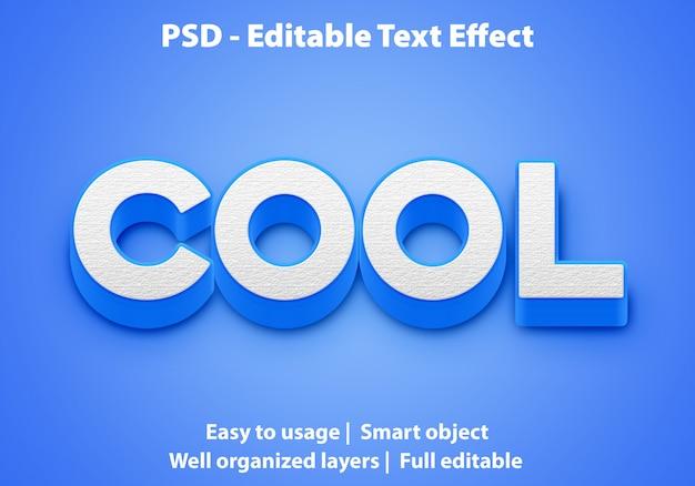 編集可能なテキスト効果blue cool premium