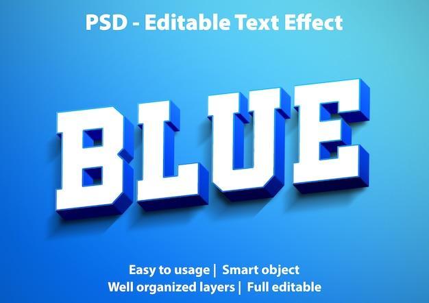 Редактируемый текстовый эффект синий
