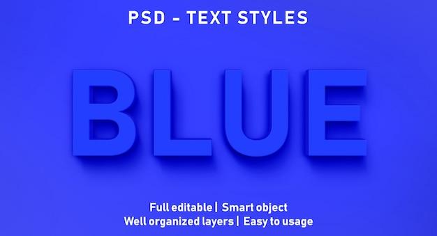 편집 가능한 텍스트 효과 블루