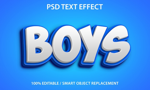 Editable text effect boys