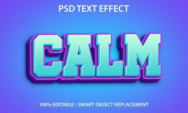Editable text effect calm