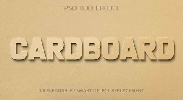 Editable text effect cardboard premium
