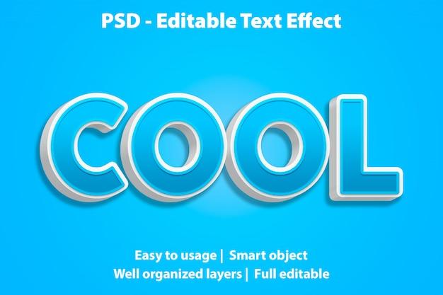 Редактируемый текстовый эффект cool premium