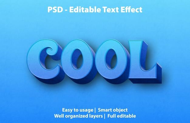 Редактируемый текстовый эффект cool