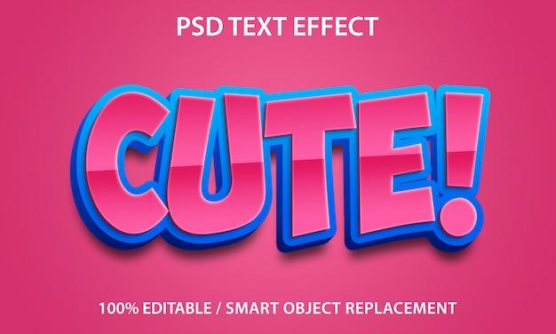 Редактируемый текстовый эффект cute premium