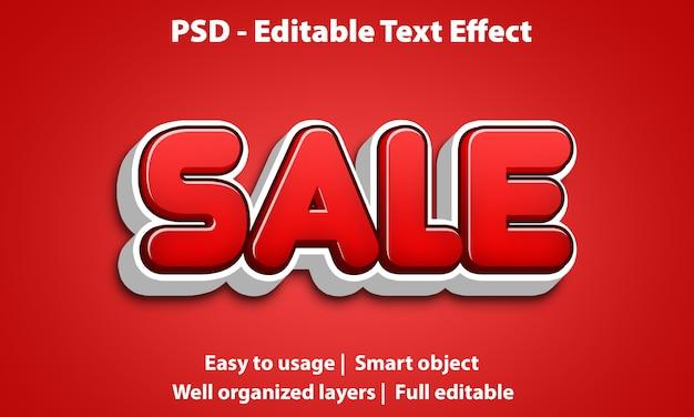 Редактируемый текстовый эффект cute sale premium
