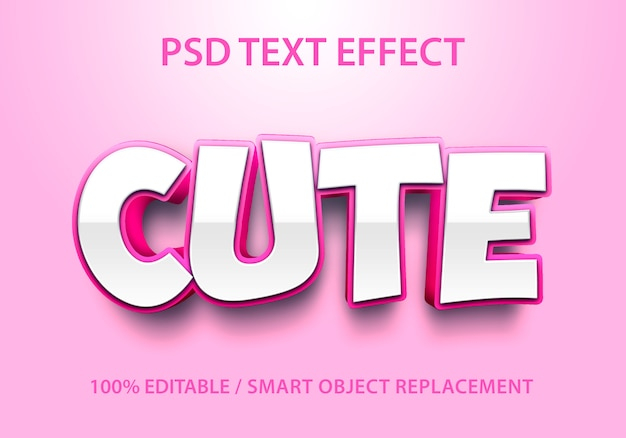 Editable text effect cute