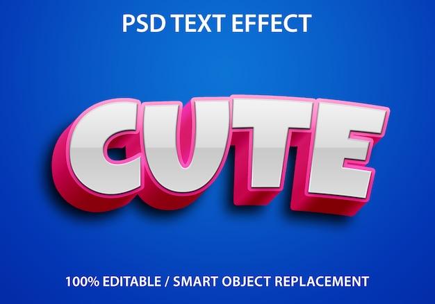 Редактируемый текстовый эффект симпатичный