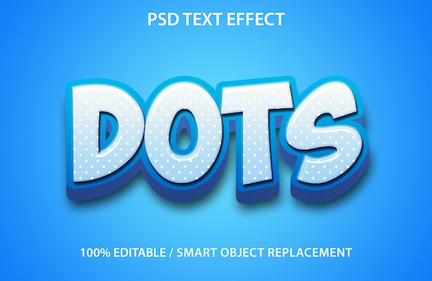 Editable text effect dots