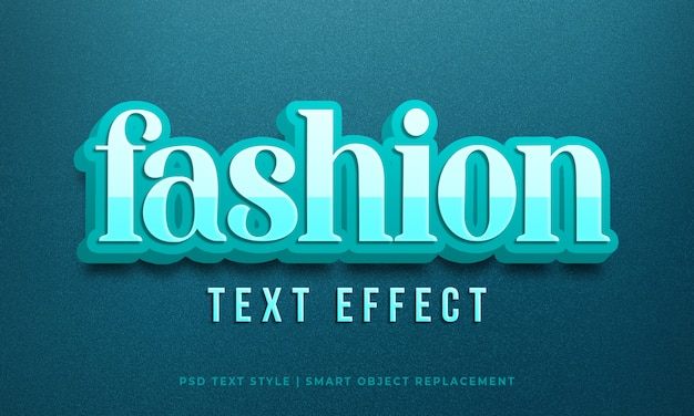 Editable text effect, fashion blue 3d text style mockup psd