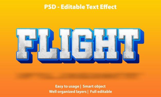 편집 가능한 텍스트 효과 flight premium