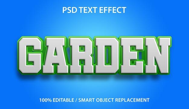 편집 가능한 텍스트 효과 정원
