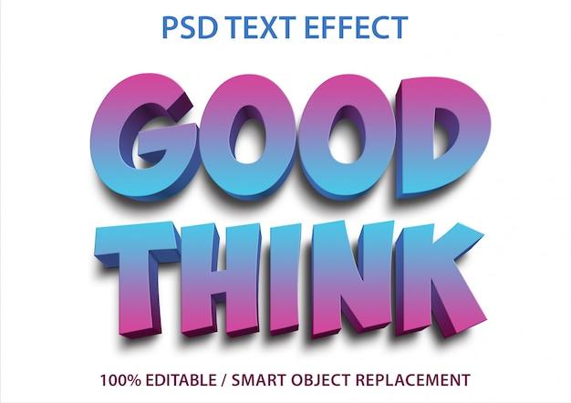 편집 가능한 텍스트 효과 good think premium
