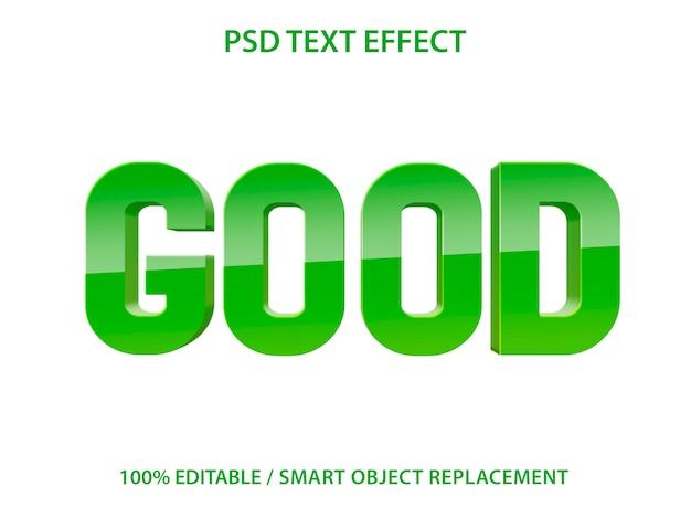 편집 가능한 텍스트 효과 녹색 양호