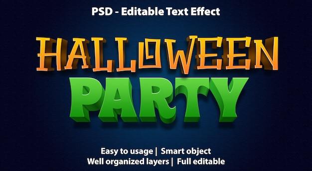 편집 가능한 텍스트 효과 할로윈 파티 프리미엄 PSD 파일
