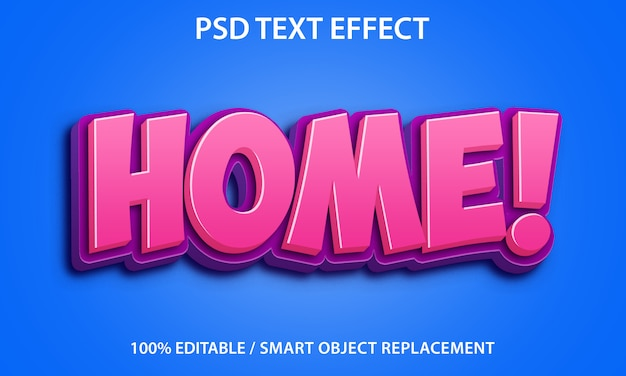 Editable text effect home premium