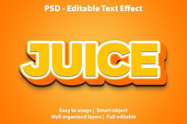 Редактируемый текстовый эффект juice premium